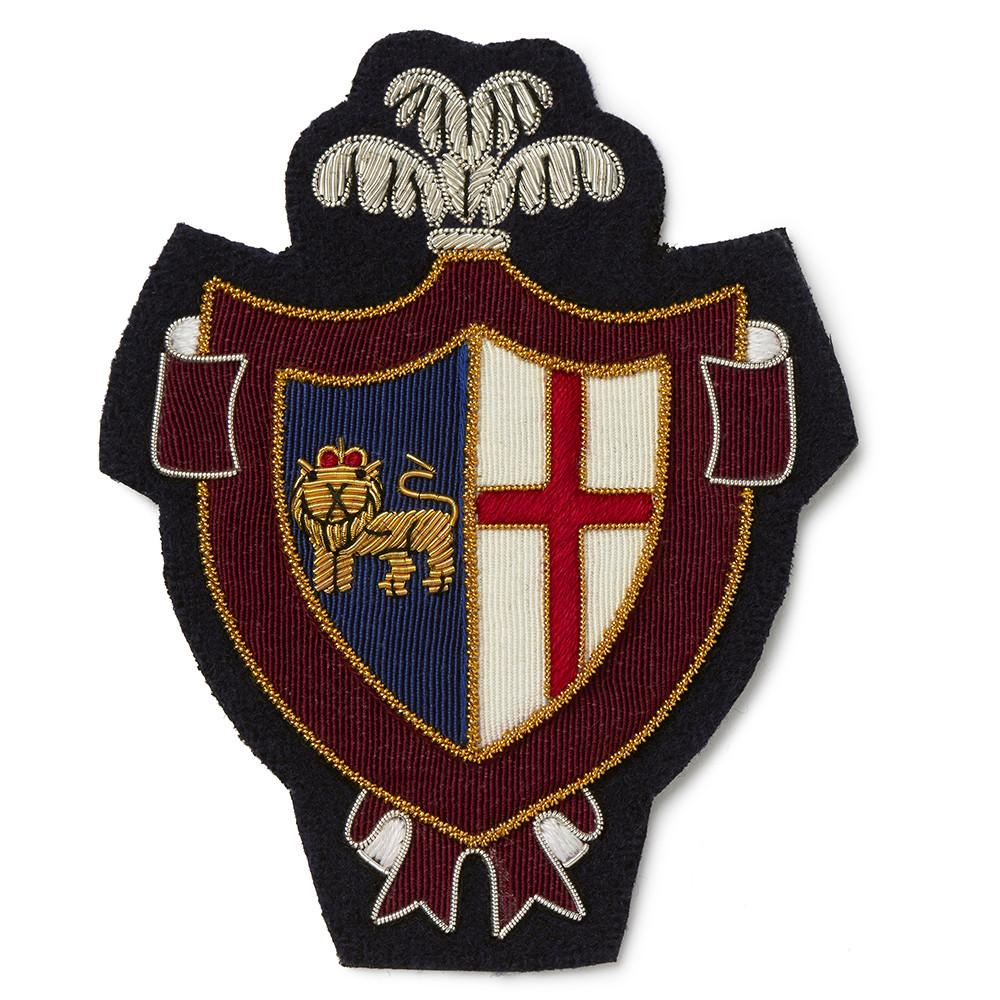 Plume Lion & Cross Blazer Badge