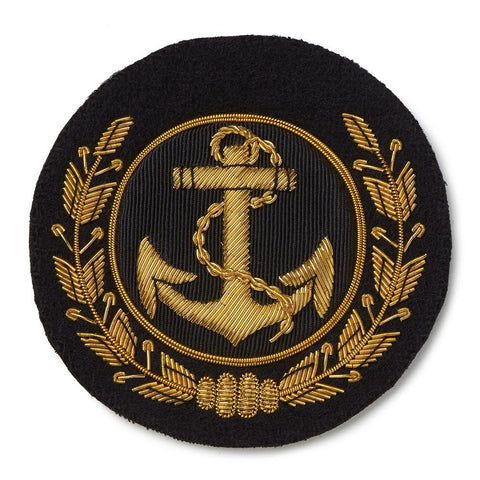 Anchor & Wreath Blazer Badge