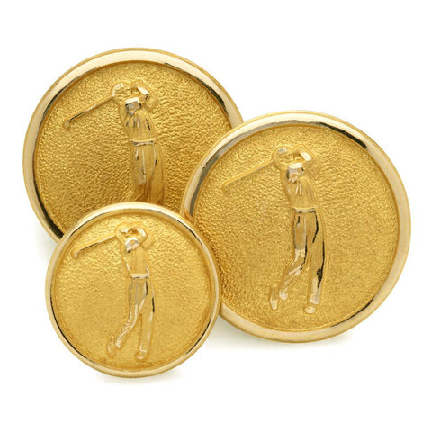 Golfer Blazer Button Set (Double Breasted)