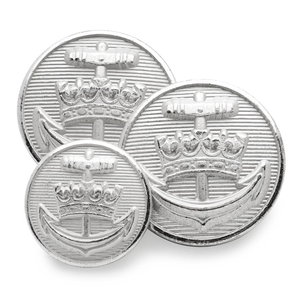 Royal Yacht Britannia (Silver) Blazer Button Set (Double Breasted) Blazer Buttons Not specified
