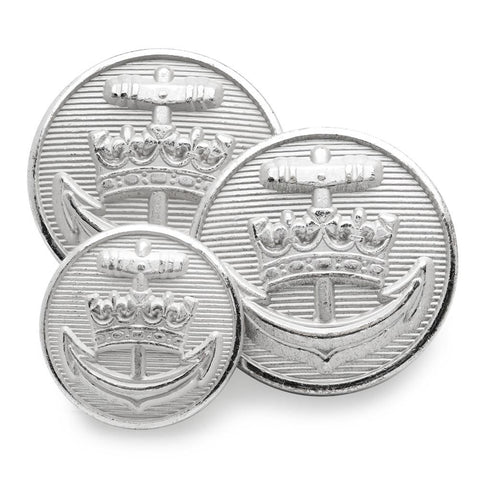 Royal Yacht Britannia (Silver) Blazer Button Set (Double Breasted)
