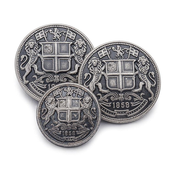 East India Company (Antique Silver) Blazer Button Set (Single Breasted) Blazer Buttons Not specified