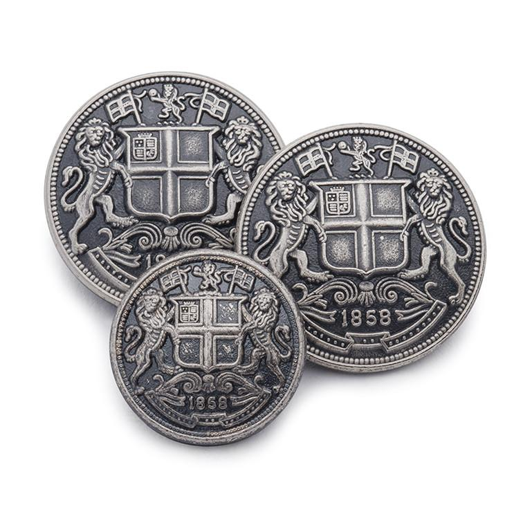 East India Company (Antique Silver) Blazer Button Set (Double Breasted)