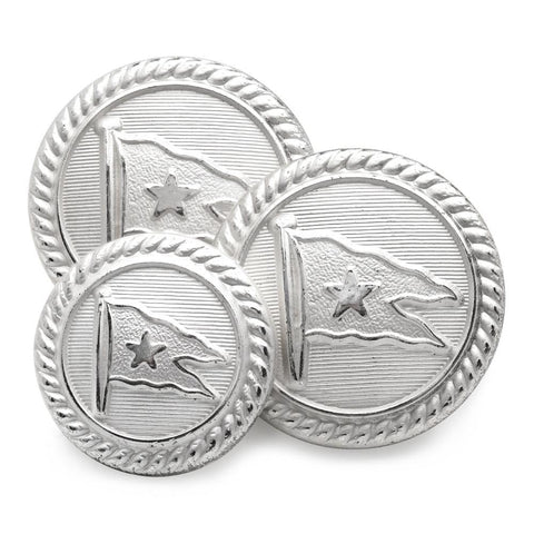 Titanic / White Star (Silver) Blazer Button Set (Single Breasted)