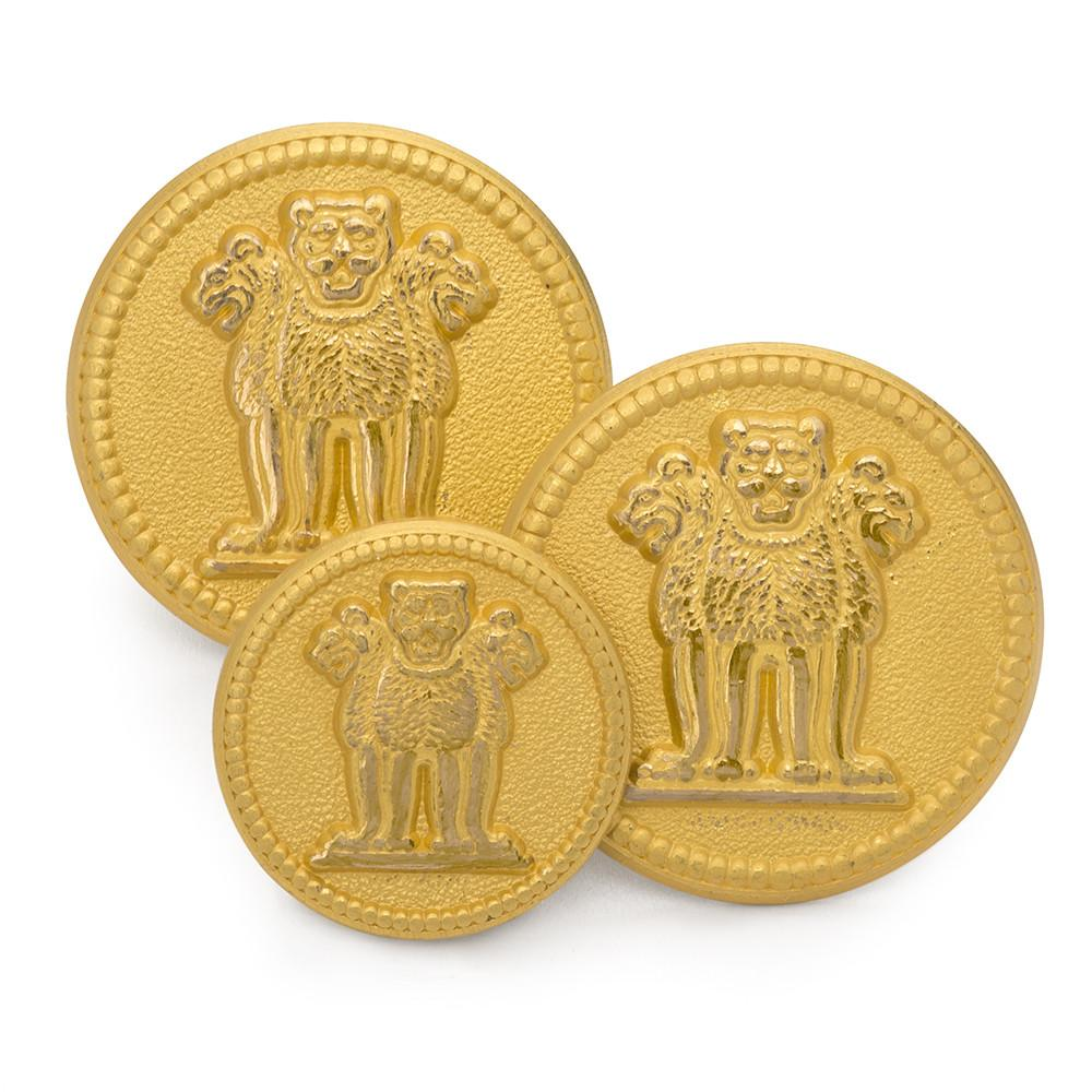 Three Lions Of Ashoka Blazer Button Set (Double Breasted)
