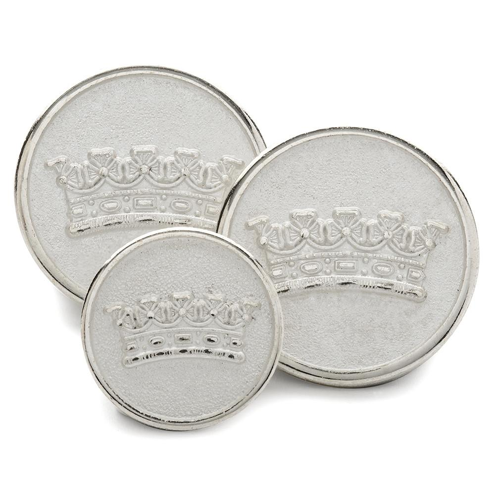 Duke's Coronet (Silver) Blazer Button Set (Double Breasted)