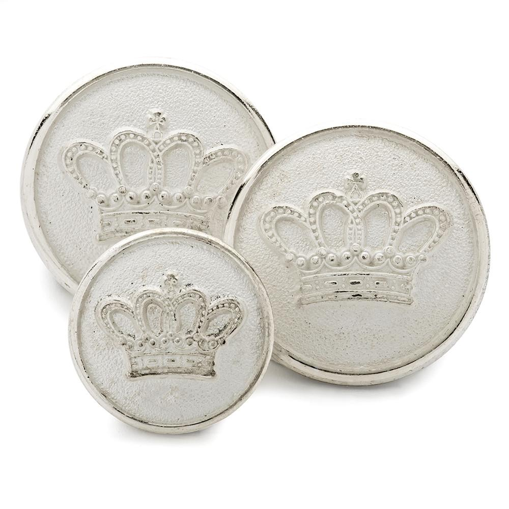 Duchess's Coronet (Silver) Blazer Button Set (Double Breasted) Blazer Buttons Not specified