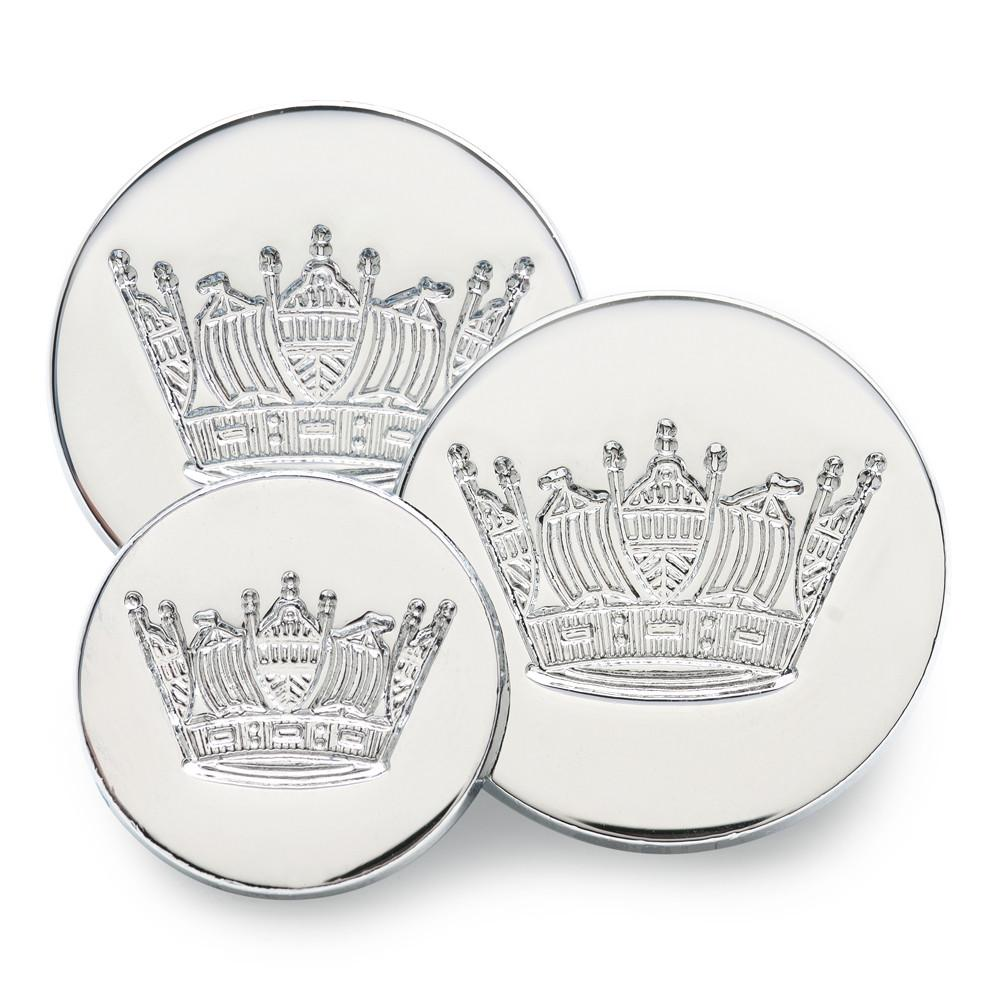 Naval Coronet (Silver) Blazer Button Set (Double Breasted)