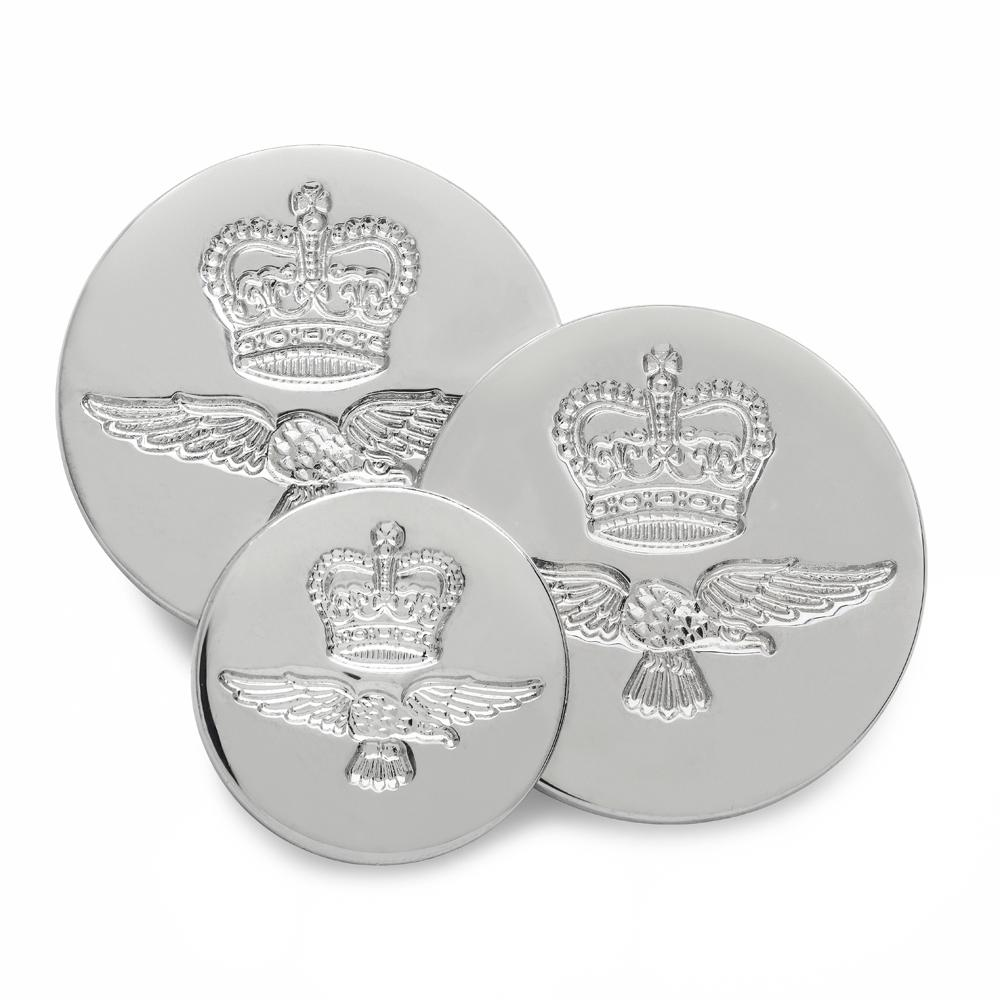 Royal Air Force (Silver) Blazer Button Set (Double Breasted) Blazer Buttons Not specified