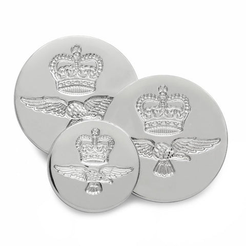 Royal Air Force (Silver) Blazer Button Set (Double Breasted)
