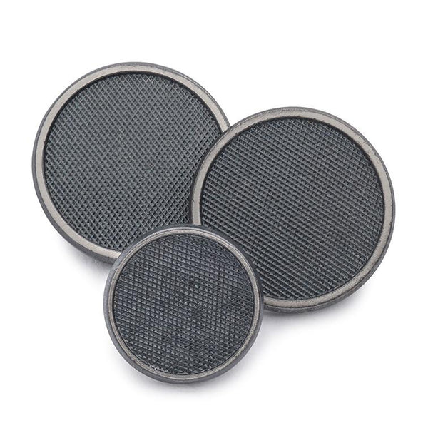 Diamond Weave (Antique Silver) Blazer Button Set (Single Breasted) Blazer Buttons Not specified