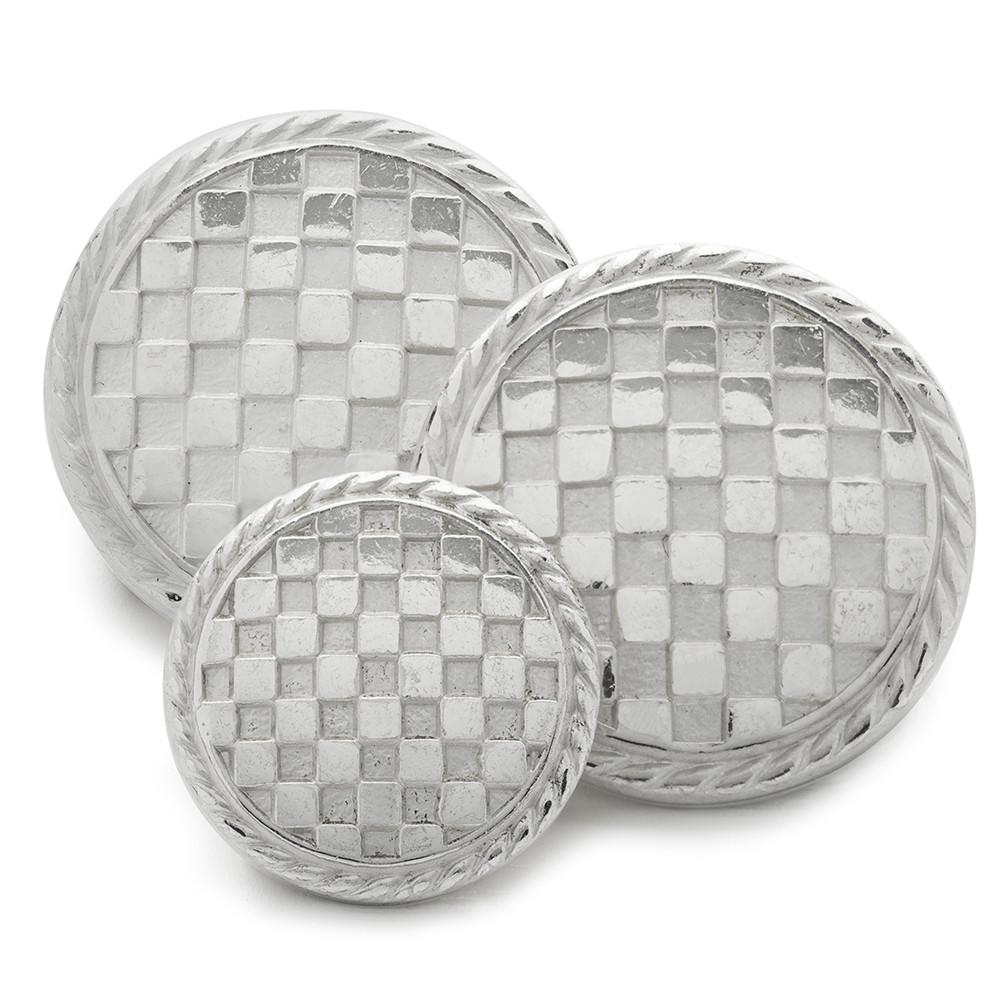 Checkerboard (Silver) Blazer Button Set (Single Breasted)