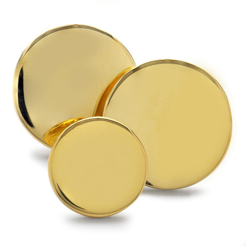 Polished Brass Blazer Button (Single Breasted) Blazer Buttons Not specified