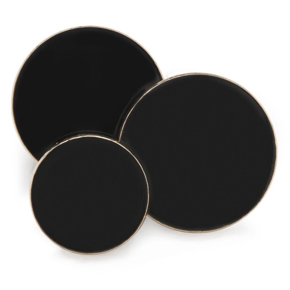 Plain Black Enamel Blazer Button Set (Double Breasted) Blazer Buttons Not specified