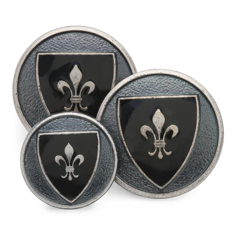 Heraldic Shield (Blue Enamel) Blazer Button Set (Double Breasted)