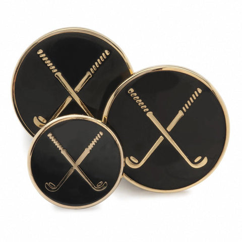 Golf Clubs (Black Enamel) Blazer Button Set (Double Breasted)
