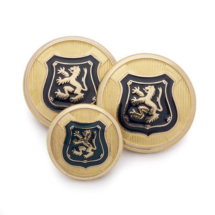 Lion & Shield Blazer Button Set (Double Breasted) Blazer Buttons Not specified