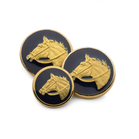 Horse Head (Blue Enamel) Blazer Button Set (Double Breasted)