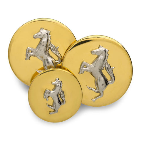 Horse (Silver) Mounted Blazer Button Set (Double Breasted)