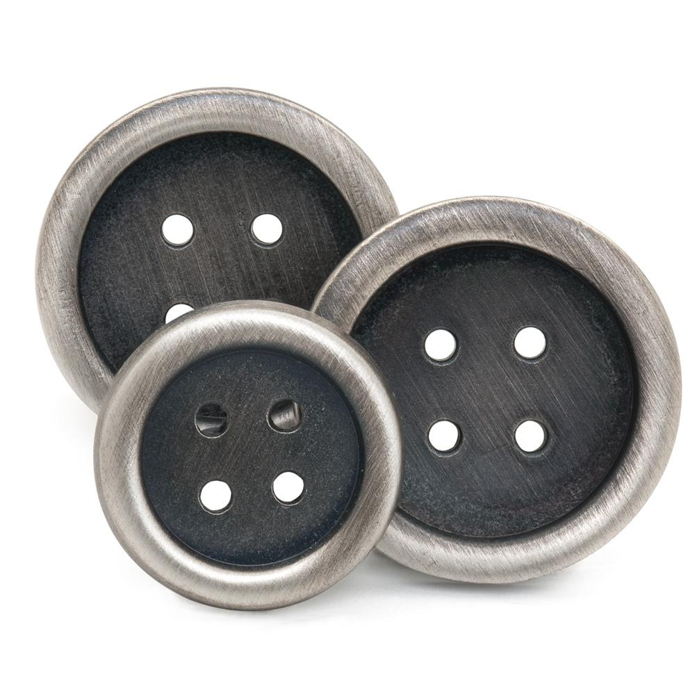 Four Hole (Antique Silver) Blazer Button Set (Single Breasted)