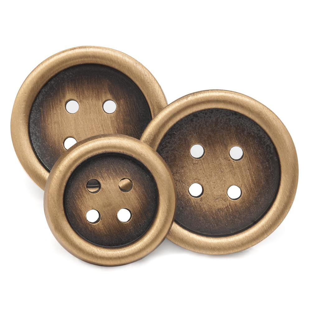 Four Hole (Antique Brass) Blazer Button Set (Double Breasted) Blazer Buttons Not specified