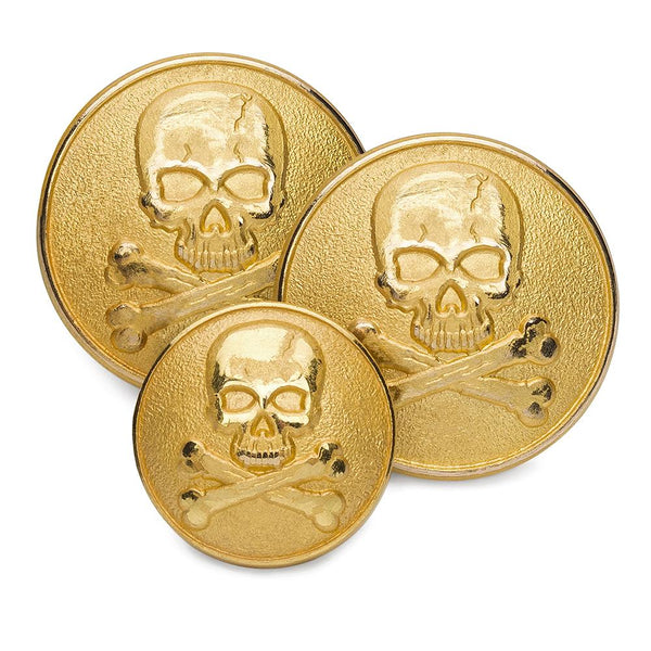 Skull & Crossbones Blazer Button Set (Double Breasted) Blazer Buttons Not specified