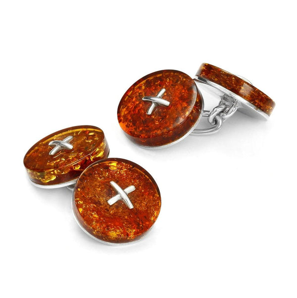 Baltic Amber Button Cufflinks Cufflinks Benson And Clegg