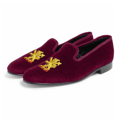 Lion Rampant Velvet Albert Slipper Accessories Benson And Clegg