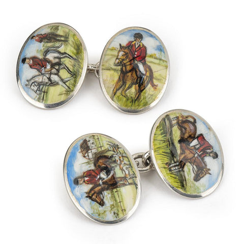 Hunting Hound Decorated Cufflinks Cufflinks Not specified