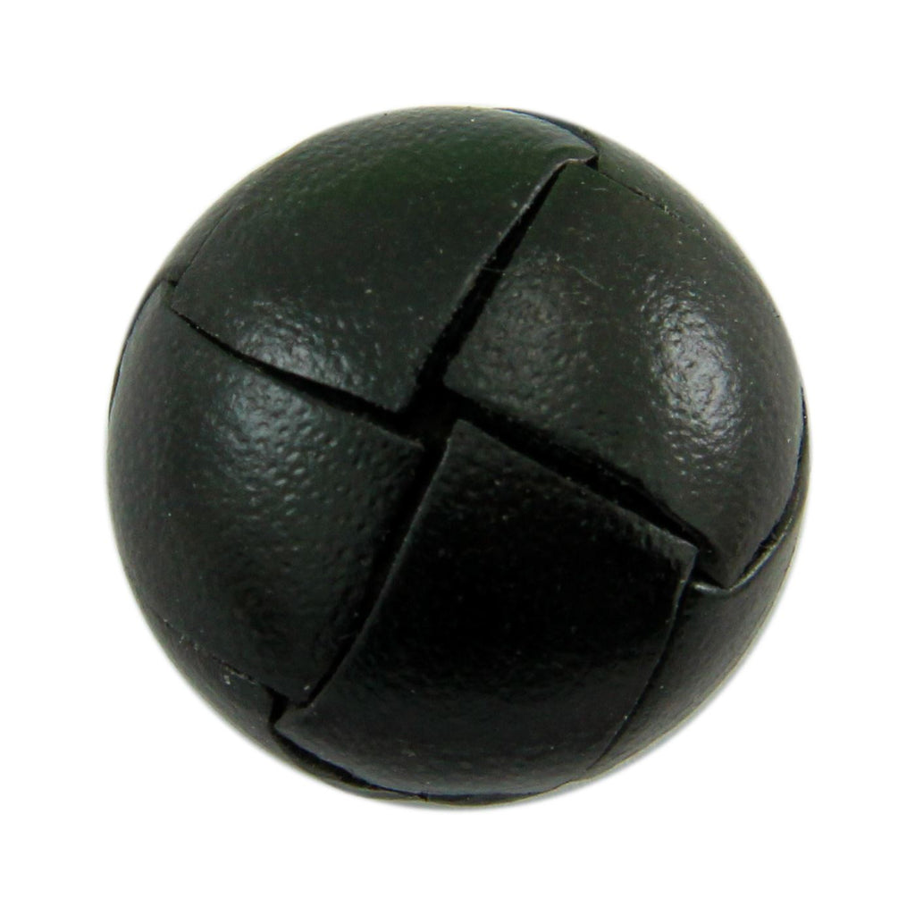 Black Leather Button Accessories Not specified