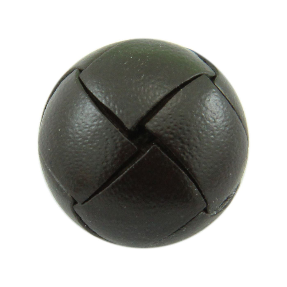 Brown Leather Button Accessories Not specified