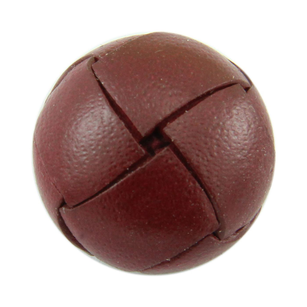 Burgundy Leather Button Accessories Not specified