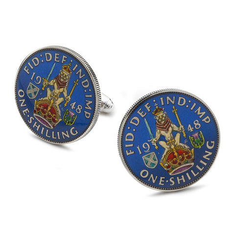 UK Scottish Shilling Coin Cufflinks