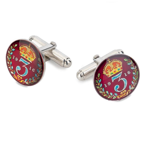 UK Three Pence (George V) Coin Cufflinks