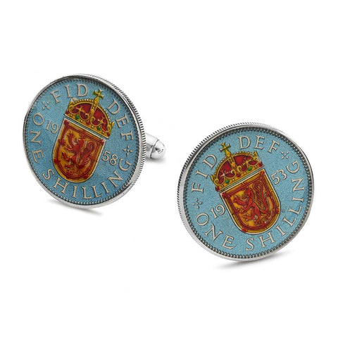 UK Scottish Shilling (Rampant Lion) Coin Cufflinks