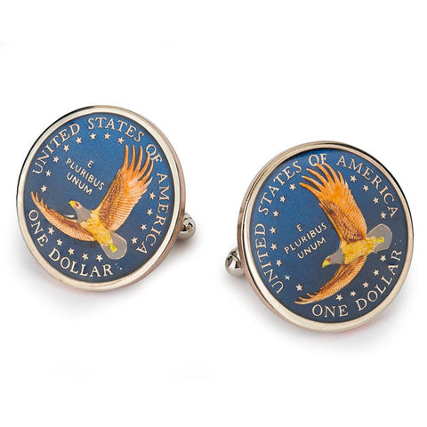 USA One Dollar (Eagle) Coin Cufflinks
