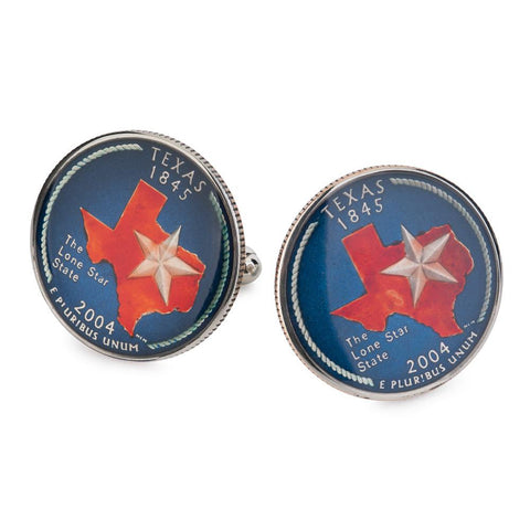 Texas State Quarter Coin Cufflinks