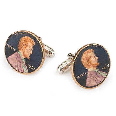 USA One Cent (Lincoln) Coin Cufflinks
