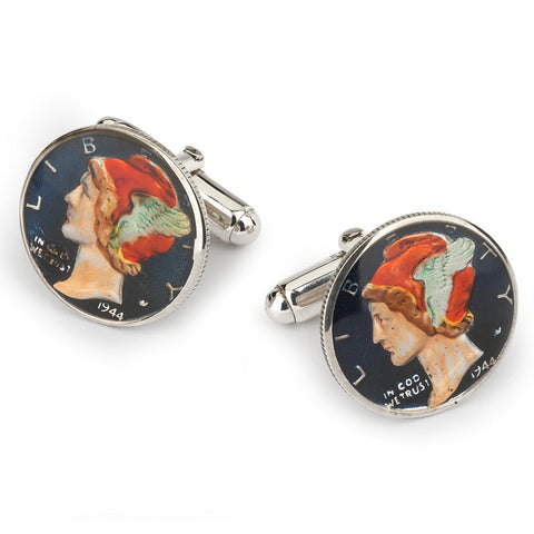 USA Dime (Mercury) Coin Cufflinks