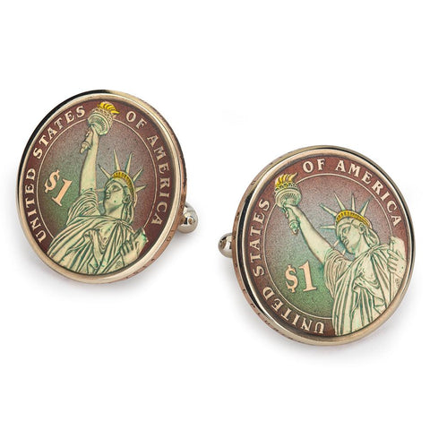 USA One Dollar Coin Cufflinks