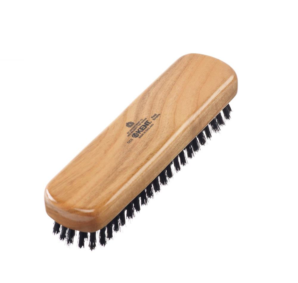 Travel Size Cherrywood Pure Black Bristle Clothes Brush Accessories Kent Brushes