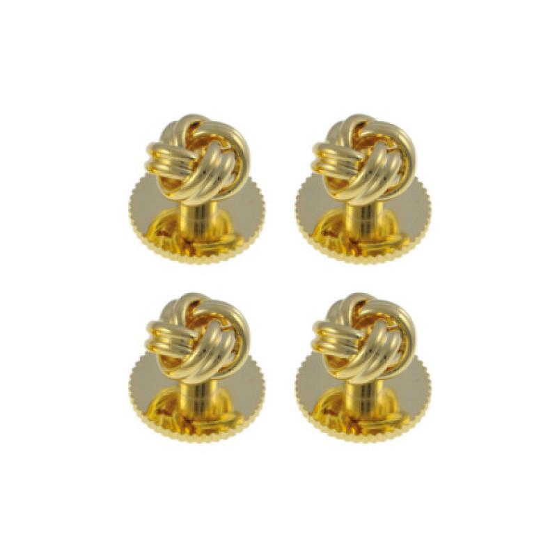Gold Plated Knot Dress Studs Dresswear Not specified