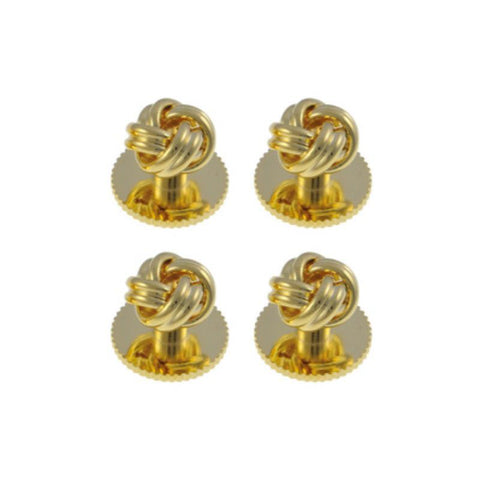 Gold Plated Knot Dress Studs