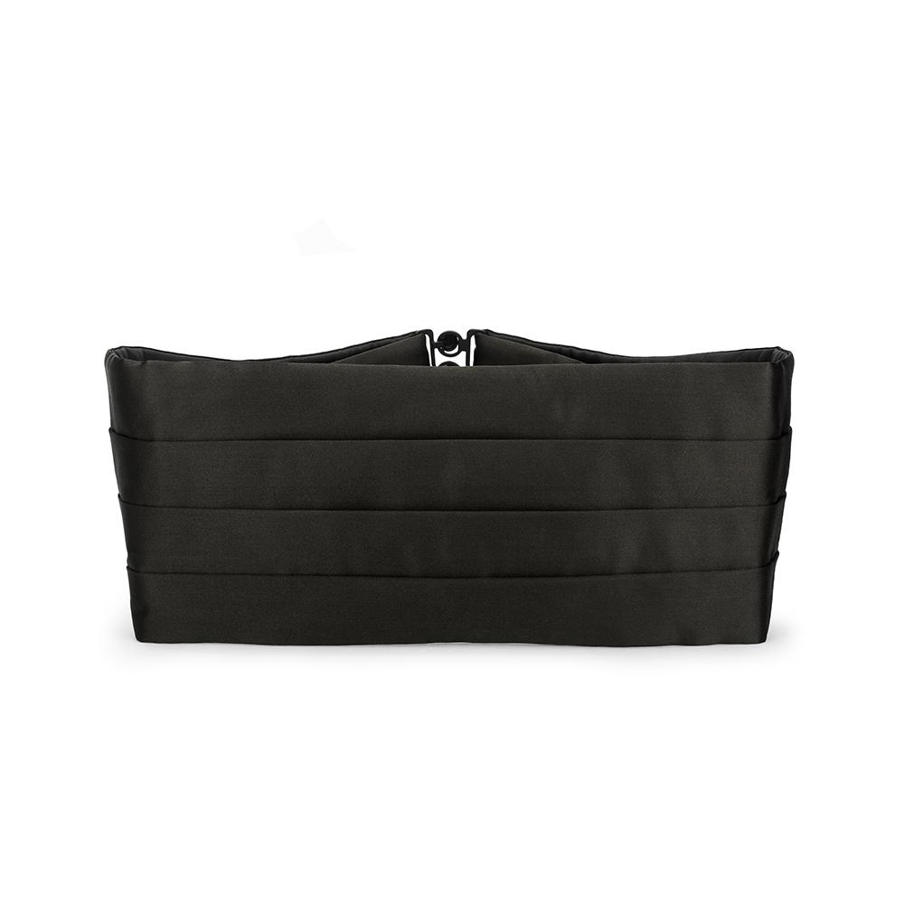 Black Silk Satin Cummerbund Dresswear Not specified