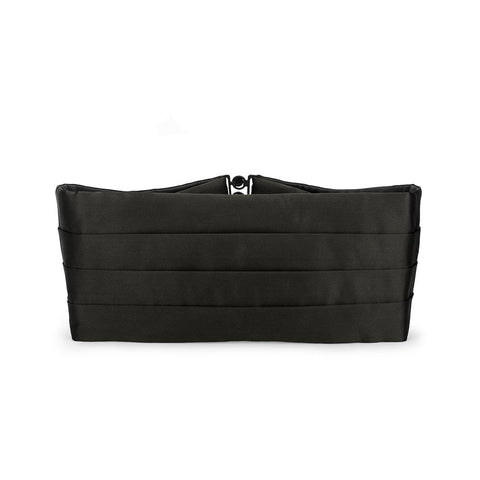 Black Silk Satin Cummerbund