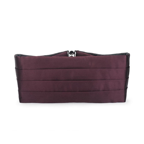 Wine Silk Satin Cummerbund Dresswear Not specified