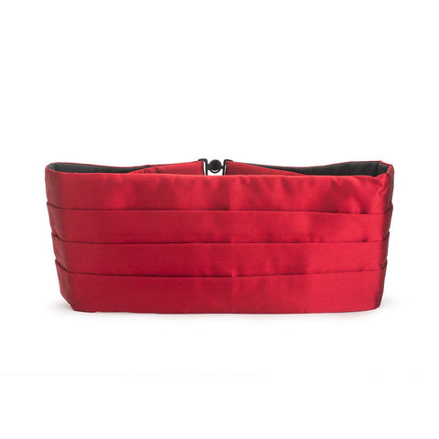 Red Silk Satin Cummerbund