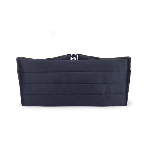 Navy Silk Satin Cummerbund