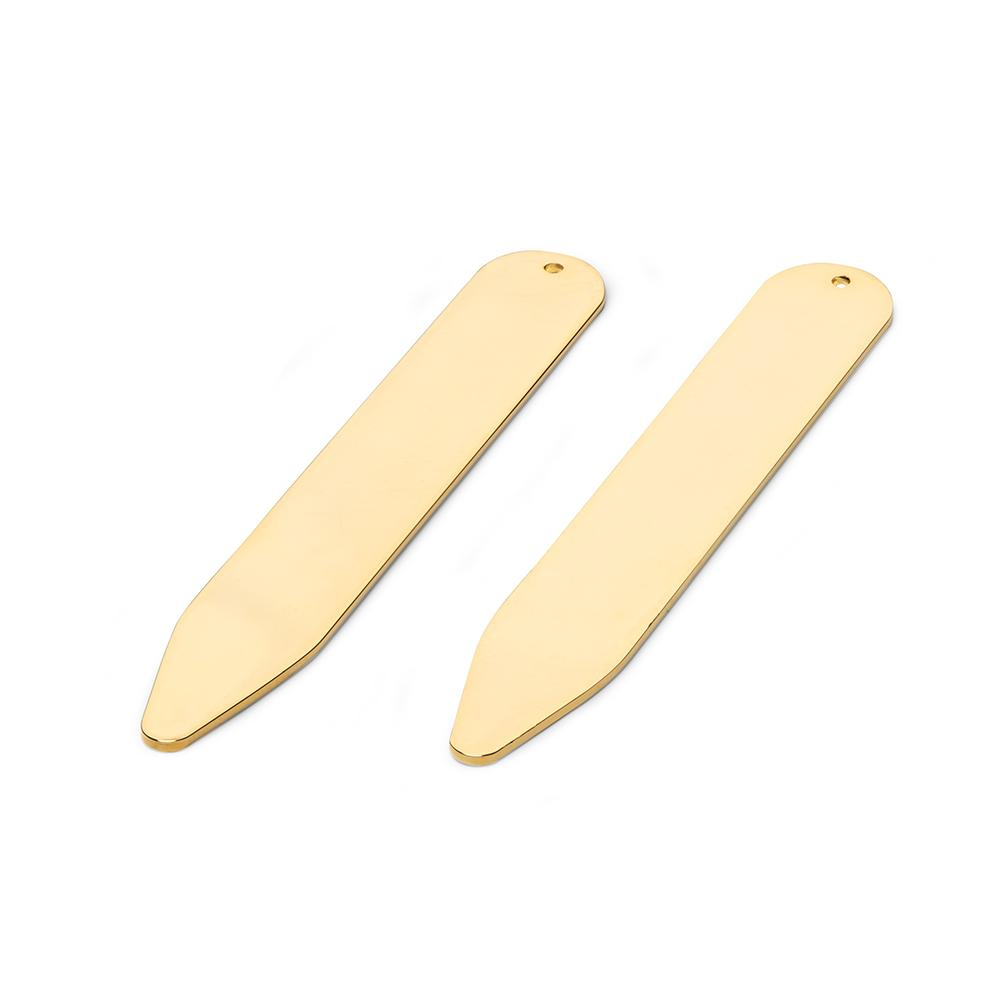 Collar Stiffeners In Gold Plate