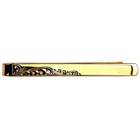 Leaf Design Gold Plated Tie Slide Accessories Not specified